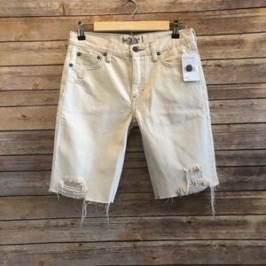 Free People Caroline Cut Off Denim Shorts